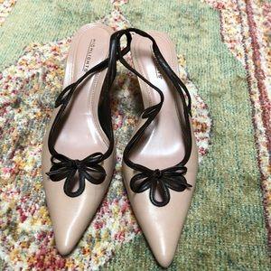 lower heeled slingbacks